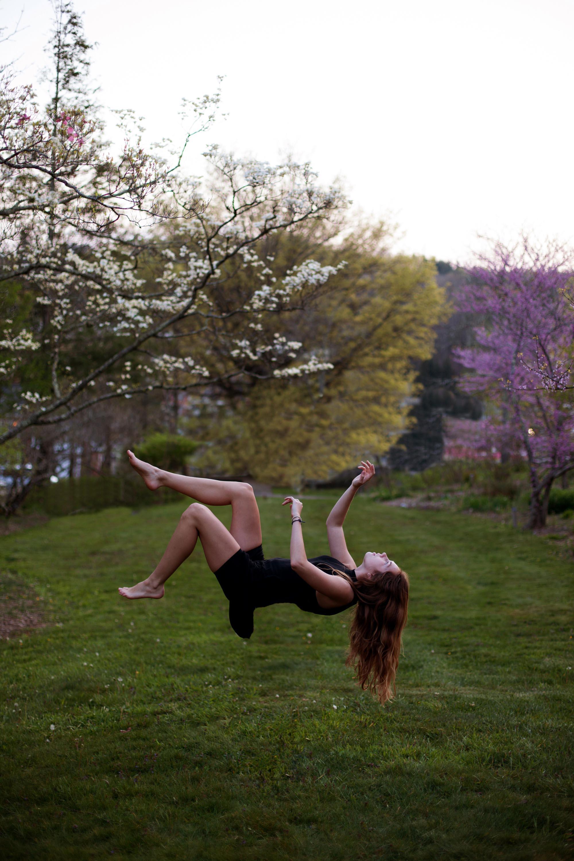 hangend in de lucht bij hypno